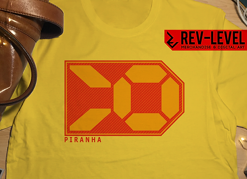 Wipeout Inspired Piranha T-Shirt - Tee by Rev-Level