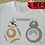 Thumbnail: Totorobot and BB8 - My Neighbour Totoro X Star Wars T-Shirt - Totoro X BB 8 Tee