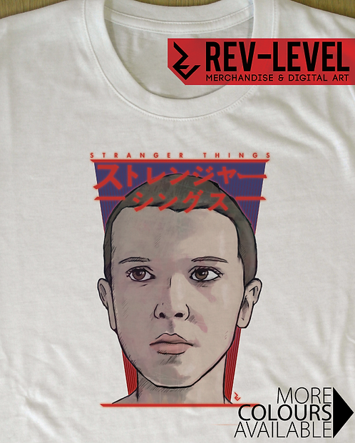 Stranger Things Eleven Japanese Poster T-Shirt - Inspired by Netflix and 11