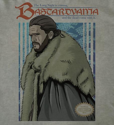 Jon Snow Bastardvania NES Cover T-Shirt Inspired By Nintendo and Game of Thrones