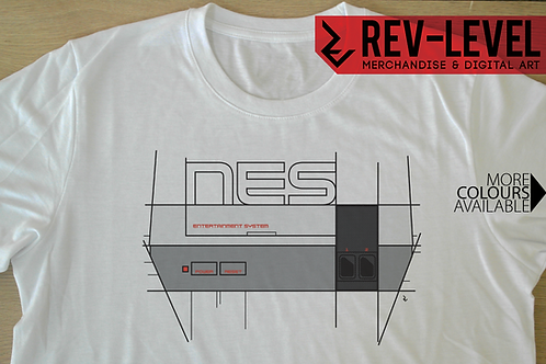 NES Nintendo Graphic T-Shirt - Tee by Rev-Level