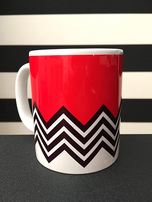 Twin Peaks Black Lodge Mug - David Lynch Inspired by Minimalist Japanese Graphic