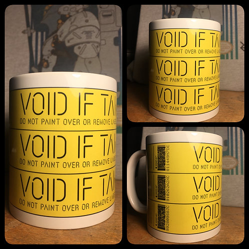 Death Stranding Void If Tampered Mug - Inspired by Kojima Productions Coffee Cup