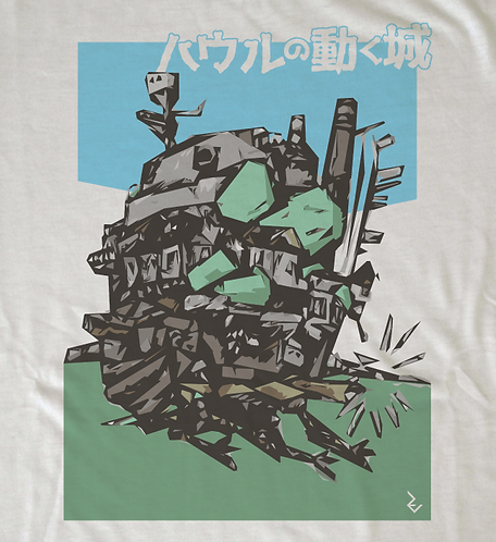 Howl's Moving Castle Japanese Poster Tee - Howls Studio Ghibli T-Shirt