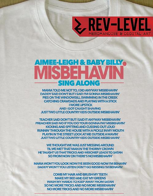 Righteous Gemstones Misbehavin Lyrics T-Shirt Inspired by HBO Danny McBride Show