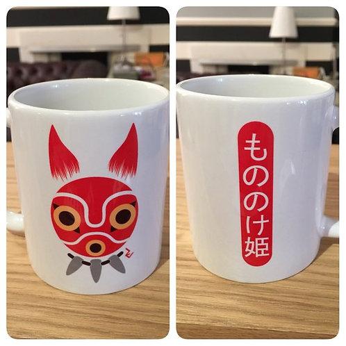 Princess Mononoke San Mask Mug - Mononoke Hime もののけ姫 Studio Ghibli Cup
