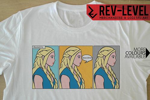Daenery Targaryen Dracarys T-Shirt - Game of Thrones, Roy Lichtenstein Inspired