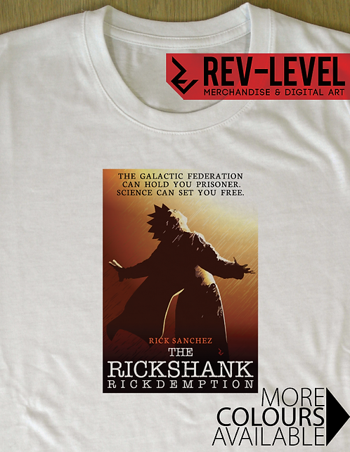 Rick and Morty Rickshank Rickdemption T-Shirt Shawshank Redemption Parody Poster