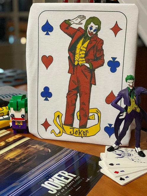 Joker Card T-Shirt - Inspired by DC Comics Batman Villain and Joaquin Phoenix