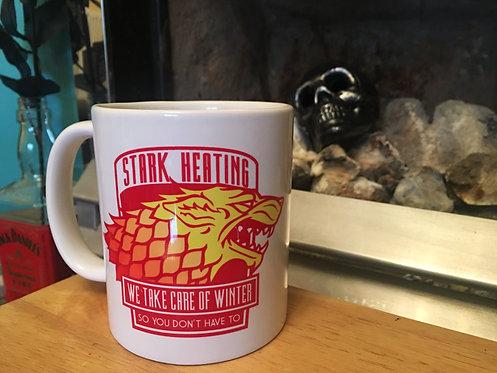 Game of Thrones 'Stark Heating' Mug - GoT House Stark Parody Winter is Coming