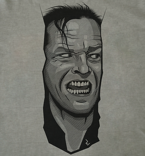 The Shining Here's Johnny Movie Poster T-Shirt - Jack Nicholson