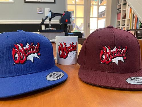 Objection! Ace Attorney Phoenix Wright Snapback Baseball Cap Hat by Rev-Level