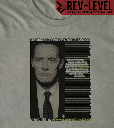 Twin Peaks Major Briggs 'COOPER' Redacted Picture Report T-Shirt - David Lynch