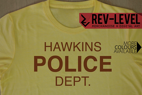 Stranger Things Hawkins Police Department T-Shirt - Inspired by Netflix