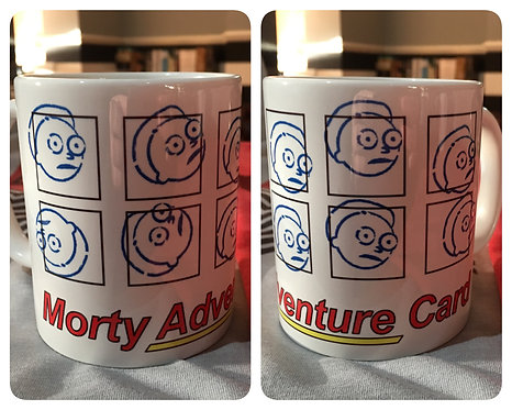 Rick and Morty 'Morty Adventure Card' Mug - It's Morty's Turn Cup