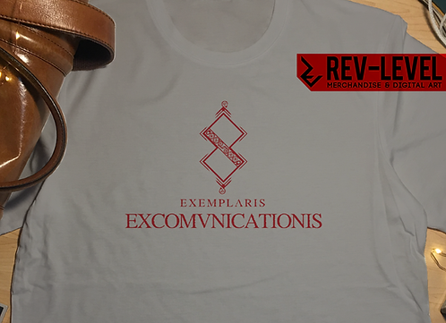 Blasphemous Death Screen EXCOMVNICATIONIS T-Shirt - Inspired by The Game Kitchen