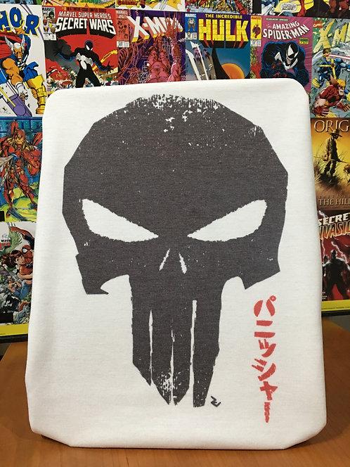 The Punisher Skull Japanese T-Shirt - Inspired by Marvel パニッシャー Frank Castle