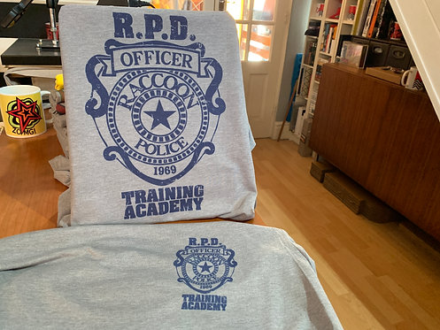 Double Print Resident Evil Racoon City Police Department Academy T-Shirt - RPD