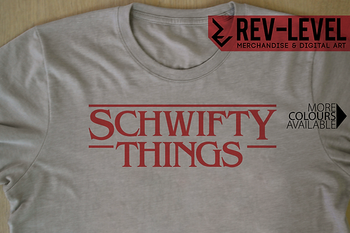 Rick and Morty and Stranger Things 'Schwifty Things' T-Shirt - Parody Tee