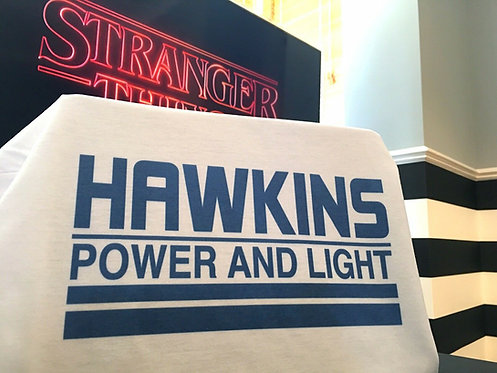 Stranger Things Hawkins Power And Light T-Shirt - Inspired by Netflix
