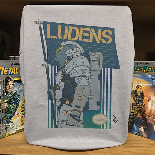 Kojima Productions Ludens NES Cover T-Shirt - 8bit Inspired by Hideo