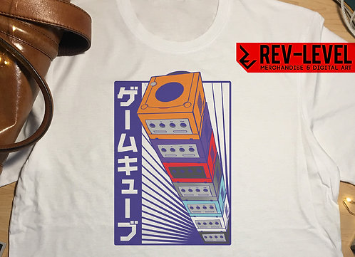Gamecube Inspired Japanese Poster T-Shirt - Nintendo Game Cube Tee by Rev-Level