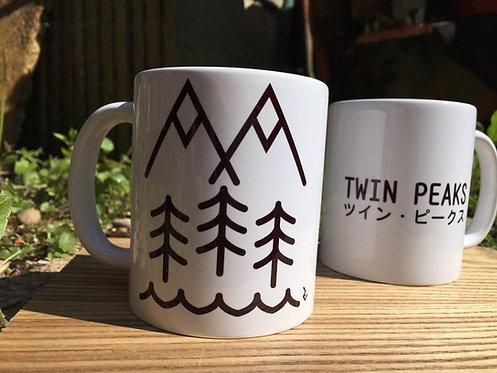 Twin Peaks Japanese Mug - David Lynch Inspired by Minimalist Japanese Graphics