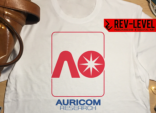 Wipeout Inspired Auricom Research T-Shirt - Tee by Rev-Level