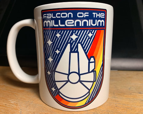 Star Wars Falcon of the Millenium Mug - Nasa Patch Inspired Coffee Cup