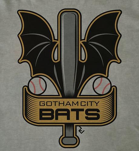 Batman 'Gotham City' Baseball Team T-Shirt - Video Game Sports Team by Rev Level