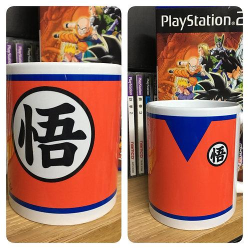 Dragon Ball Z Goku Minimalist Mug - Inspired by Akira Toriyama DBZ Coffee Cup