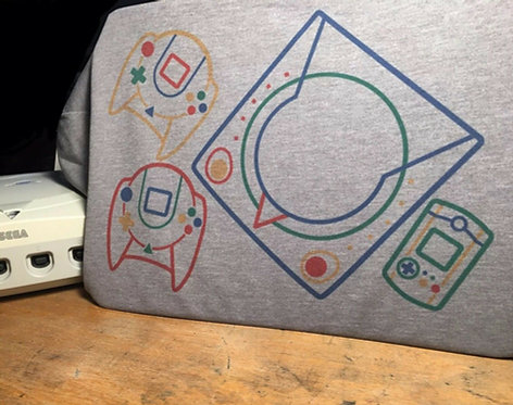 Sega Dreamcast Super Famicom Illustration T-Shirt - Tee by Rev-Level