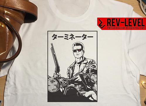 Terminator 2 Japnese Dark Version T-Shirt Arnie schwarzenegger Tee by Rev-Level