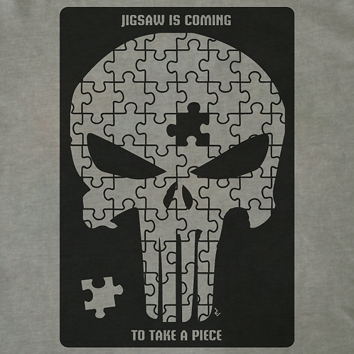 The Punisher Jigsaw Skull T-Shirt - Inspired by Marvel's Frank Castle