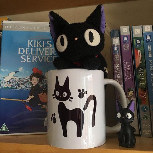 """Kiki's Delivery Service Jiji """"Look It's Me"""" Mug - Kiki Jiji Studio Ghibli Cup"""