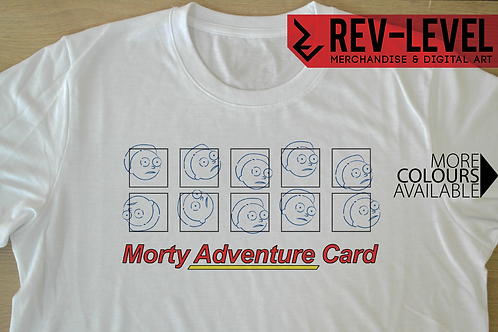 Rick and Morty 'Morty Adventure Card' T-Shirt - It's Morty's Turn Tee