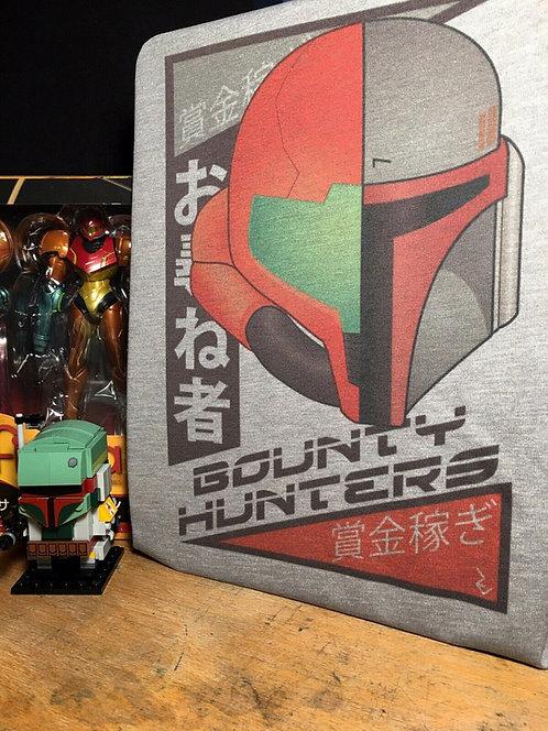 Samus Aran and Boba Fett Japanese T-Shirt - Metroid and Star Wars Bounty Hunter