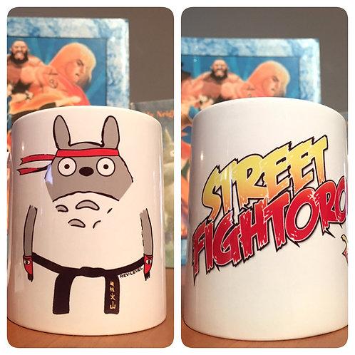 Totoryu - Totoro X Street Fighter Mug - Totoro X Ryu - Ghibli X Capcom Cup