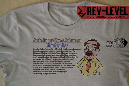 Rick and Morty Ants In My Eyes Johnson Full Quote T-Shirt - Funny Advert Tee