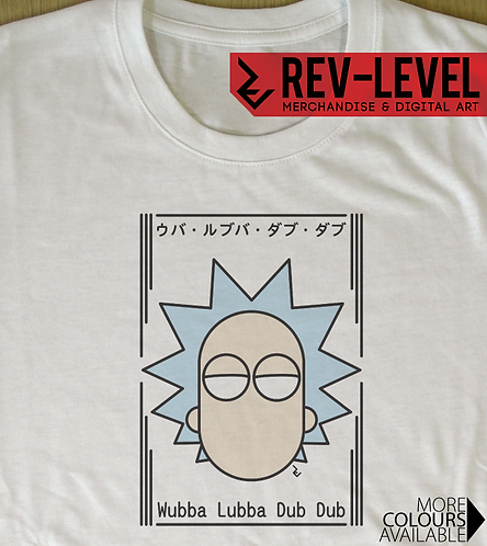 Rick and Morty Japanese T-Shirt - Rick Sanchez Japanese Minimalist Graphics