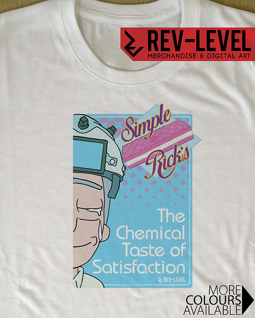 Rick and Morty 'Simple Rick's' Poster T-Shirt - Rick Sanchez Wafer Cookies Ad