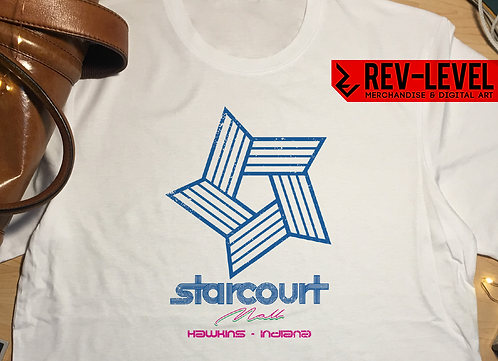Stranger Things Starcourt Mall Logo T-Shirt - Inspired by Netflix Show Season 3