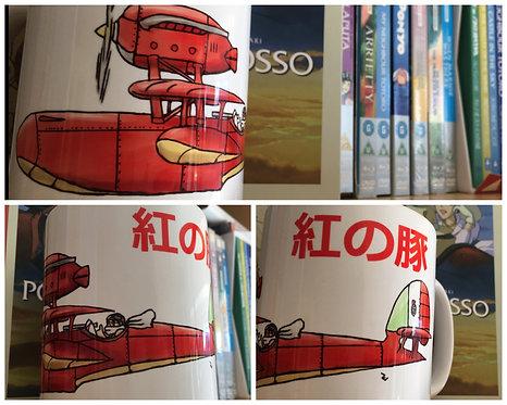 Porco Rosso Plane Sketch Mug - Kurenai no Buta 紅の豚 Studio Ghibli Cup