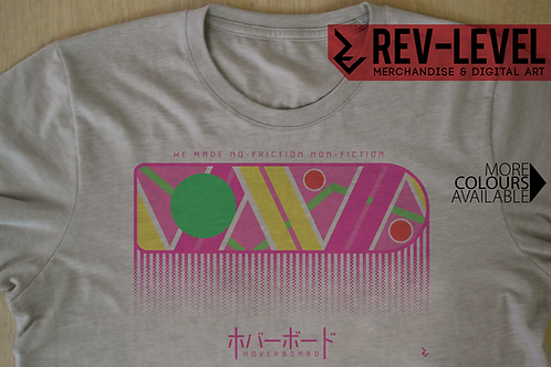 Back To The Future Japanese Hoverboard Poster T-Shirt Inspired by Michael J Fox