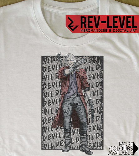 Devil May Cry Dante 'Devil' T-Shirt - Inspired By Capcom's DMC 5