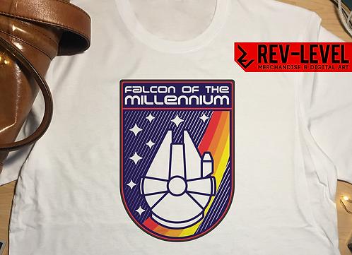 Details about  Star Wars Millennium Falcon Nasa Patch T-Shirt - Star Wars Retro
