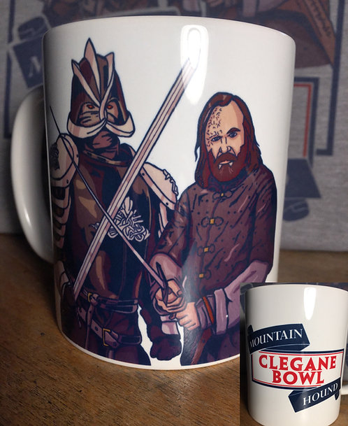 Game of Thrones Cleganebowl The Hound and Mountain Mug GoT Clegane Bowl Cup