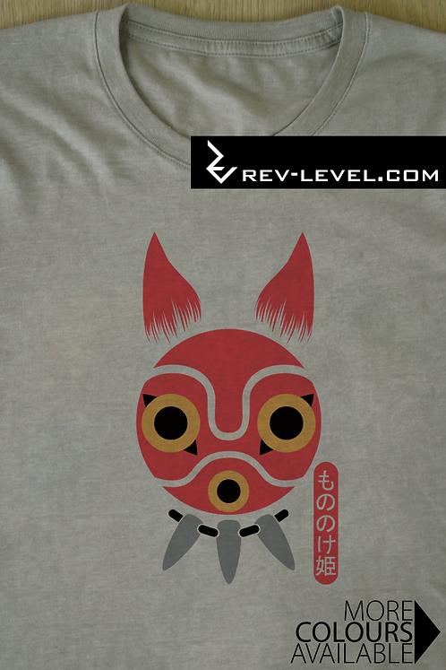 Princess Mononoke San Mask Tee - Mononoke Hime もののけ姫 Ghibli T-Shirt