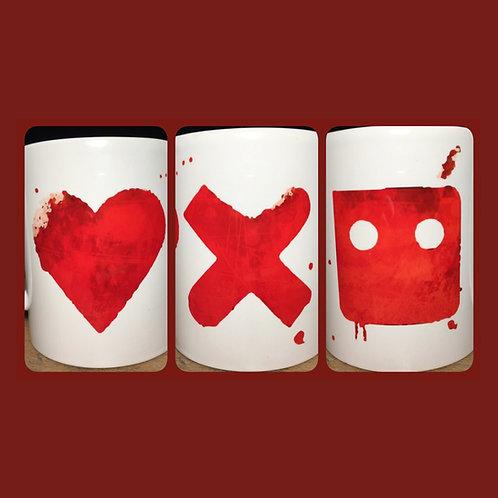 Love Death and Robots Graffiti Mug - Inspred by Netflix David Fincher show