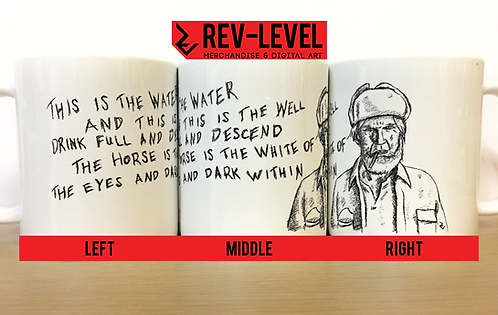 "Twin Peaks ""This Is The Water, This Is The Well"" Sketch Mug -David Lynch Creepy"